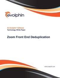 Zoom Front End Deduplication