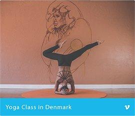 Yoga class in Denmark
