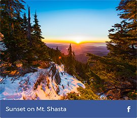 Sunset on Mt.Shasta