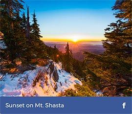 Sunset on Mt.Shasta