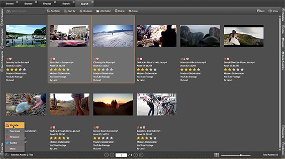 Upload graphics and videos from the repository and store them on YouTube